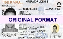 Indiana DRIVER LICENSE ORIGINAL FORMAT, DESIGN SPECIFICATIONS, NOVELTY SECURITY CARD PROFILES, IDENTITY, NEW SOFTWARE ID SOFTWARE Indiana driver