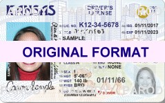 Kansas DRIVER LICENSE ORIGINAL FORMAT, DESIGN SPECIFICATIONS, NOVELTY SECURITY CARD PROFILES, IDENTITY, NEW SOFTWARE ID SOFTWARE Kansas driver