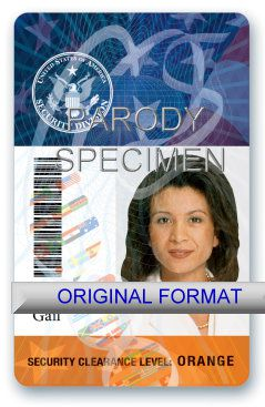 SECURITY CLEARANCE DRIVER LICENSE ORIGINAL FORMAT, DESIGN SPECIFICATIONS, NOVELTY SECURITY CARD PROFILES, IDENTITY, NEW SOFTWARE ID SOFTWARE