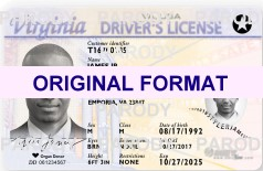 VIRGINIA FAKE VIRGINIA SCANNABLE FAKE VIRGINIA DRIVING LICENSE WITH HOLOGRAMS
